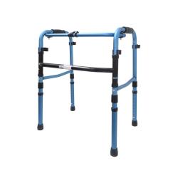 Andador de alumínio dobrável azul - Macrolife