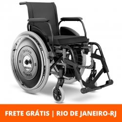 Cadeira de rodas AVD 44cm - Ortobras - Prata