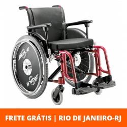 Cadeira de rodas Ágile 44cm -  Jaguaribe - Vinho