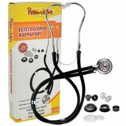 Estetoscopio Rappaport  Preto - Premium
